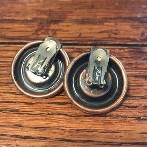 Vintage Jewelry - Matisse enameled copper clip on earrings